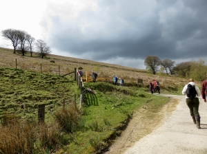 Climbing up to Mynydd Machen
