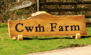 Entrance to Cwm Farm