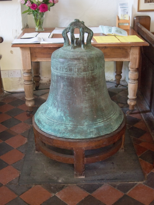 15th Century bell, St Illtyd's Church, Ilston