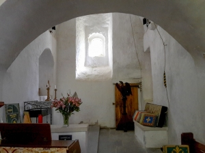 Chapel under bell tower in St Illtyd's