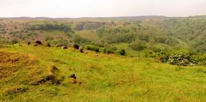 Garn Ddyrys looking across to Pwll du quarry