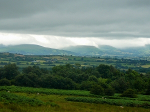 Mist sinking low on the Black Mountains