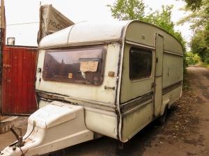 Old tatty caravan