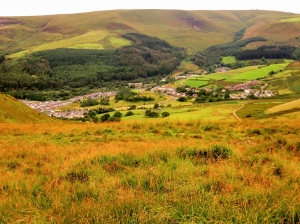 Overlooking Nant y Moel, Price Town and Wyndham