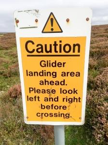 Midland gliding club information sign