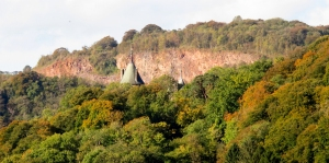 taff gorge and castle turrets