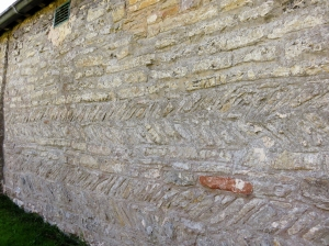 herring bone masonry at st peters church