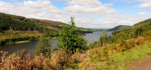 talybont reservoir and valley