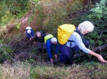 climbing the landslip