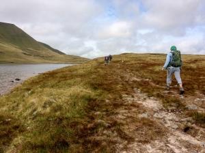 passing below the ridge