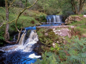 waterfall on blaen y glyn river