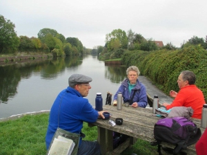 gloucester and sharpness canal - coffee break