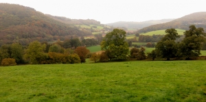 offas dyke overlooking bigsweir bridge