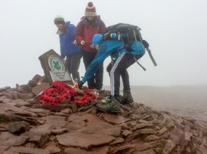 people examining the wreaths on top for remebrance sunday