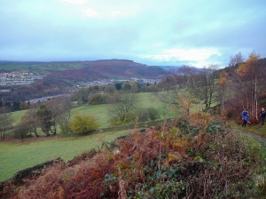 looking up the cynon valley
