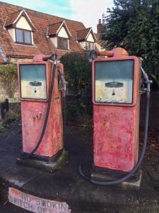 disused petrol pumps in aust village