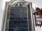 plaque mentioning seys family