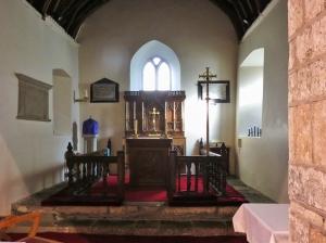 altar and rail inside