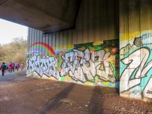 colourful grafitti under A4232
