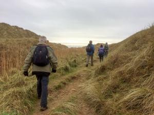 through the dunes to the beach