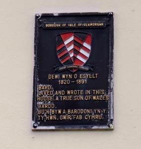 dewi wyn o esyllt plaque on three horseshoes wall