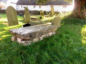old stone altar at cowinston church