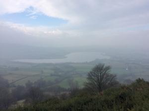 overlooking llangorse lake