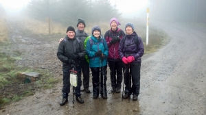 the gang really wet but still smiling