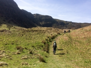 Passing through Craig Cerrig-gleisiad