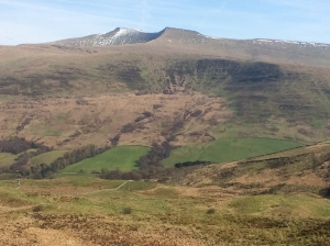 Across the Tarell Valley to Pen y Fan and Corn Du