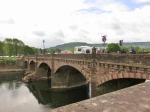 Crossing the Wye Bridge into England