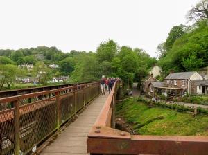 Crossing back into Wales at Redbrook