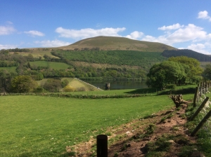 Talybont reservoir dam and Tor y Foel