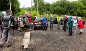 Group meeting in Coed Ely Club car park