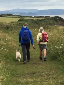 Setting off along the coast path