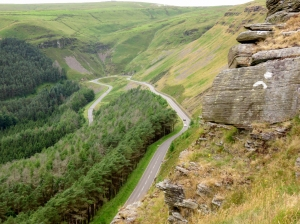 View of Bwlch road from Craig Ogwr