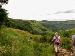 Descending through Cwm Selsig