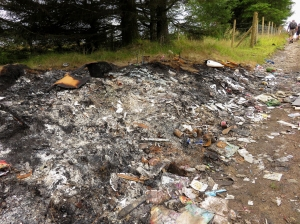 Burnt fly-tipping