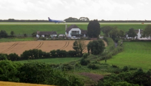 Runway at Cardiff Airport