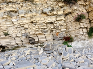 Unstable cliffs at Lavernock