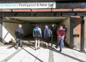 Catching the train from Pontypool
