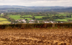 View from the ploughed field