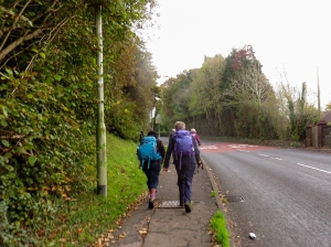 Climbing Sarn Hill