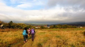 Views to Mynydd y Gaer and Ogmore Valley