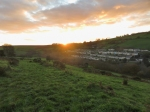 Sun sliding down over Lewistown