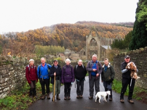Wye Valley Walk overlooking Tintern Abbey
