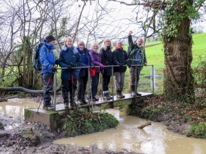 The gang cross the Whitelands Brook