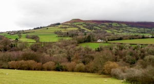 Across the valley to Crug Hywel