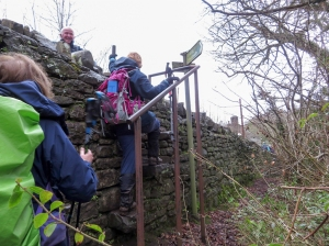 Clambering up to Llangenny