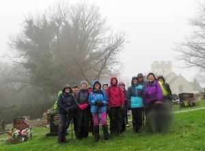 Rain sodden at St Curig's